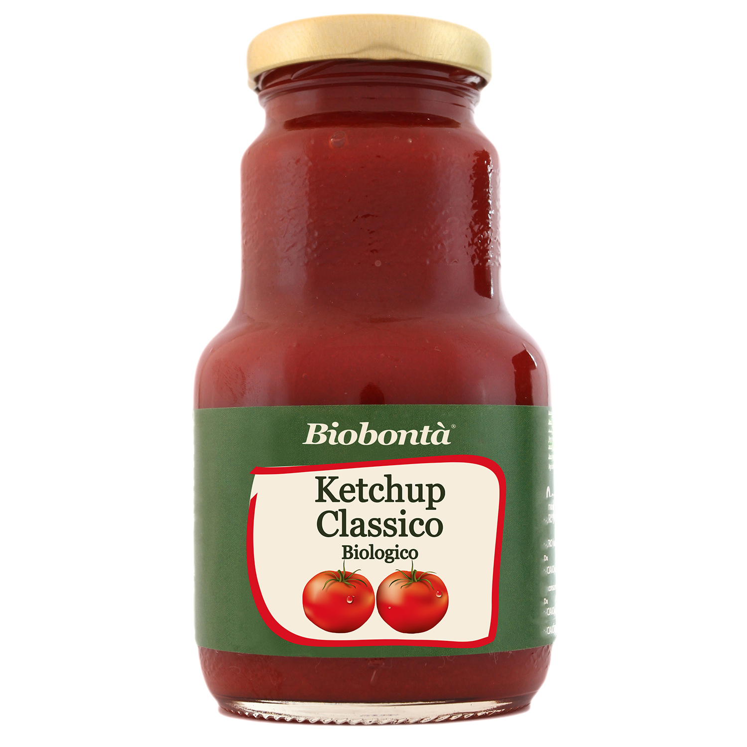 Classic Ketchup g 230 - Organic, Gluten free, condiment, Italy, TUTTOVO SRL