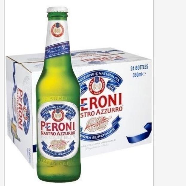 Peroni Nastro Azzurro beer fresh 24x33cl bottles