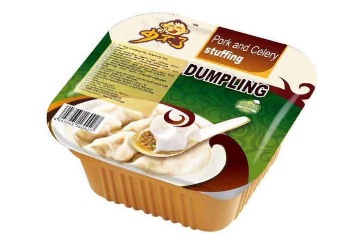 Dumplings in a creamy sauce