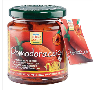 POMODORACCIO Sun semi-dried tomatoes in sunflower oil 314g, Dry Tomatoes canned food, instant food,