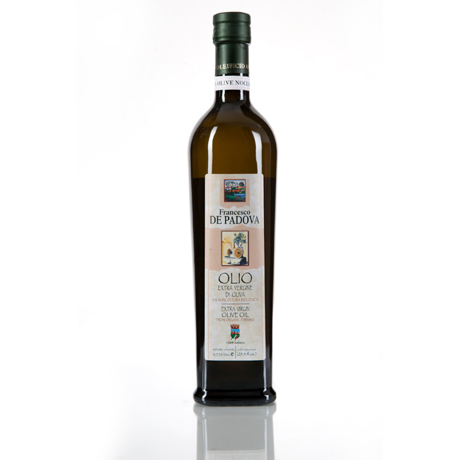 EXTRA VIRGIN OLIVE OIL FROM ORGANIC FARMING Cold Extraction -  Monocultivar PECHOLIN-  Francesco De Padova, Cantina Bosco, 100% Italy, condiments