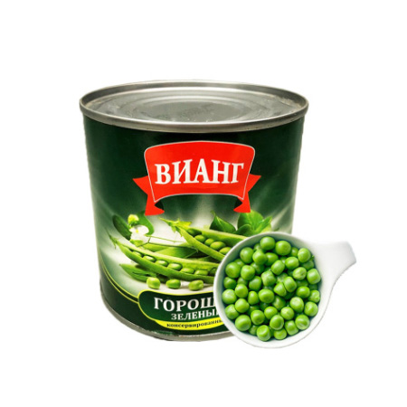 Canned ready to eat, canned green beans, canned vegetables, peas, mung beans, Russia