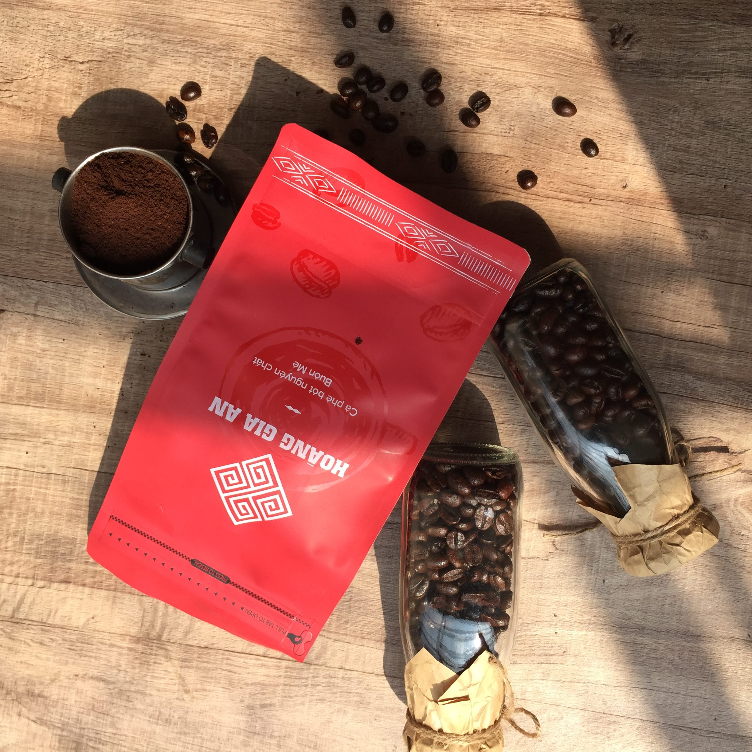 Pure roasted coffee 500gr from Vietnam