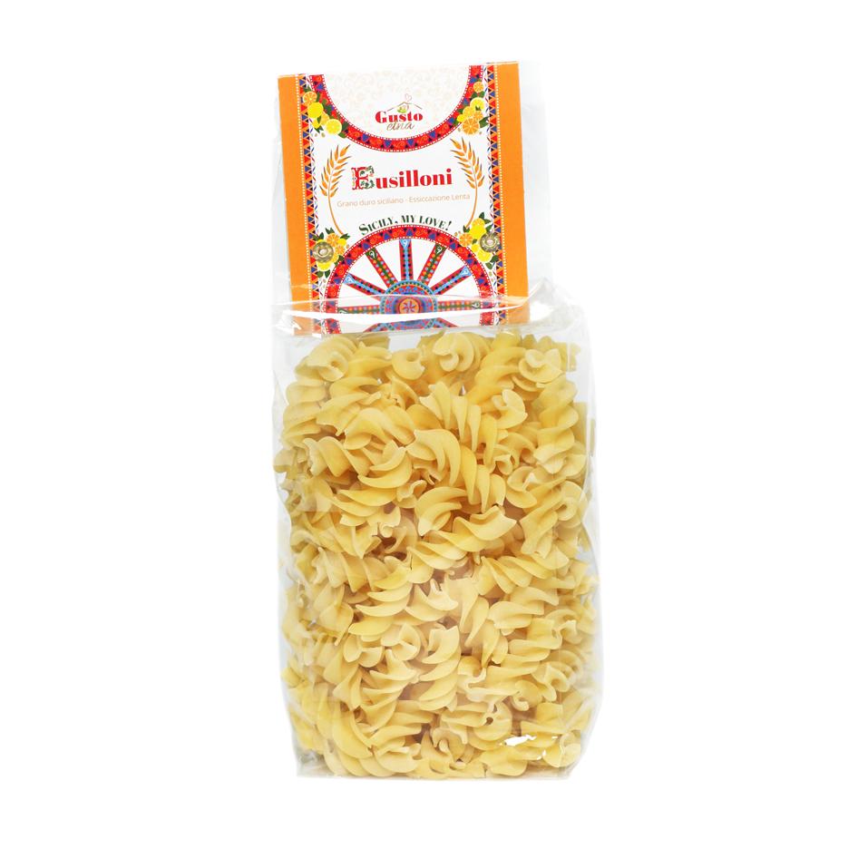 Fusilloni of durum wheat semolina, pasta cereal, Italy, I veri sapori dell'Etna srl