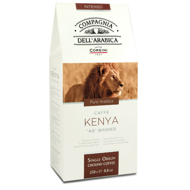 Kenya AA Washed ground coffee 250gr Italy