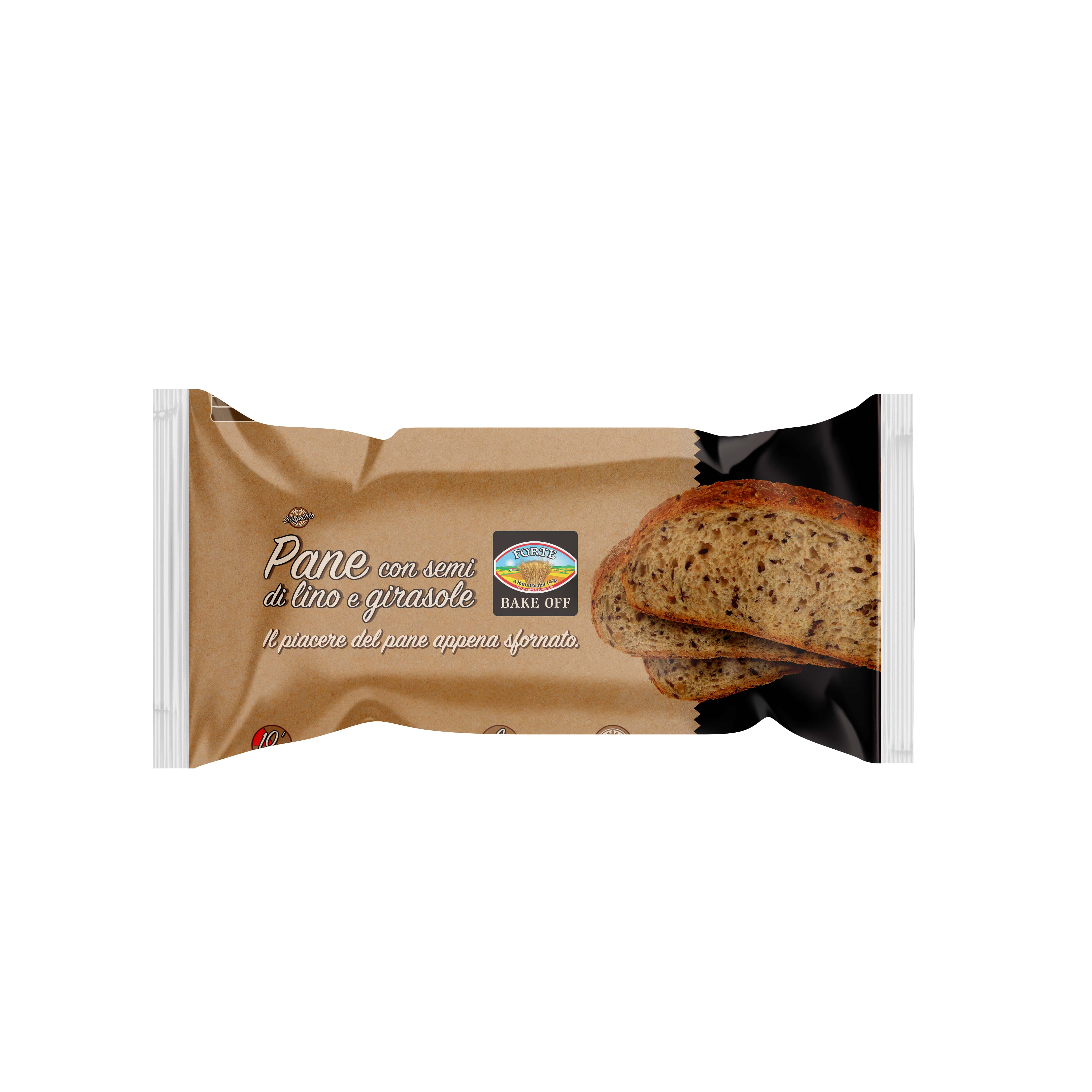 Forte Bake At Home Sliced Bread with linseed and sunflower seeds 400g 6 SLICES