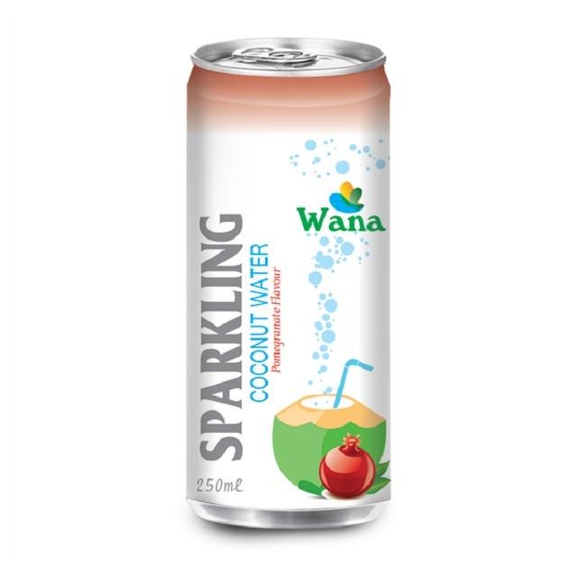 Sparkling Coconut Water Juice Drink in Vietnam With 5 Flavor in Can 250ml