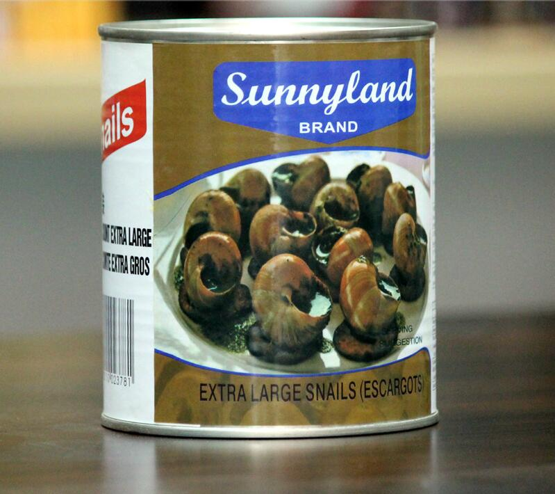Buying 850g Canned food. French Red Wine Baked Snail Raw Material Xinli Brand Spiritual Snail 850g imported from Indonesia