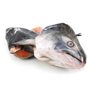 frozen salmon heads