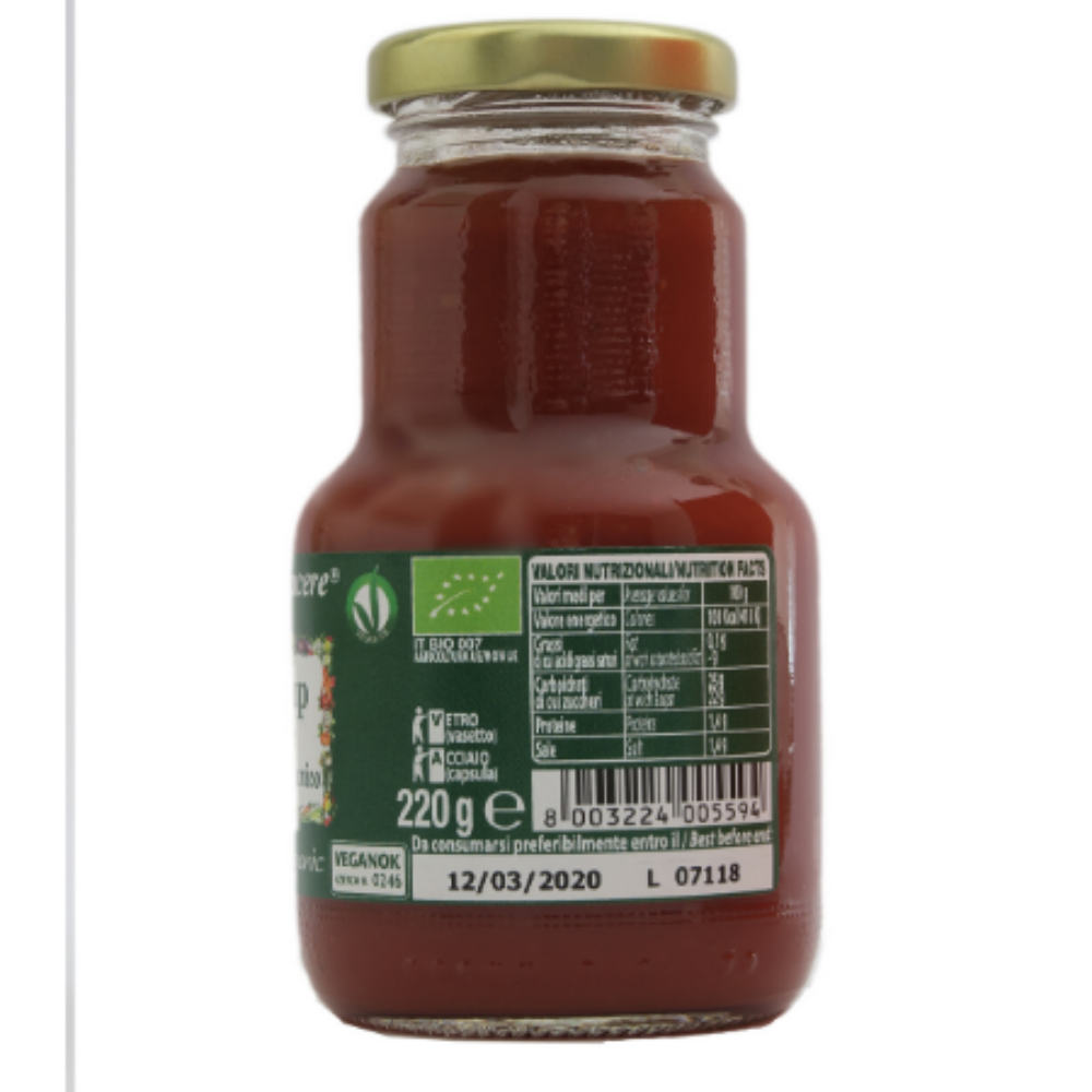 Barbecue Ketchup g 230 - Organic, Gluten free, condiment, Italy, TUTTOVO SRL