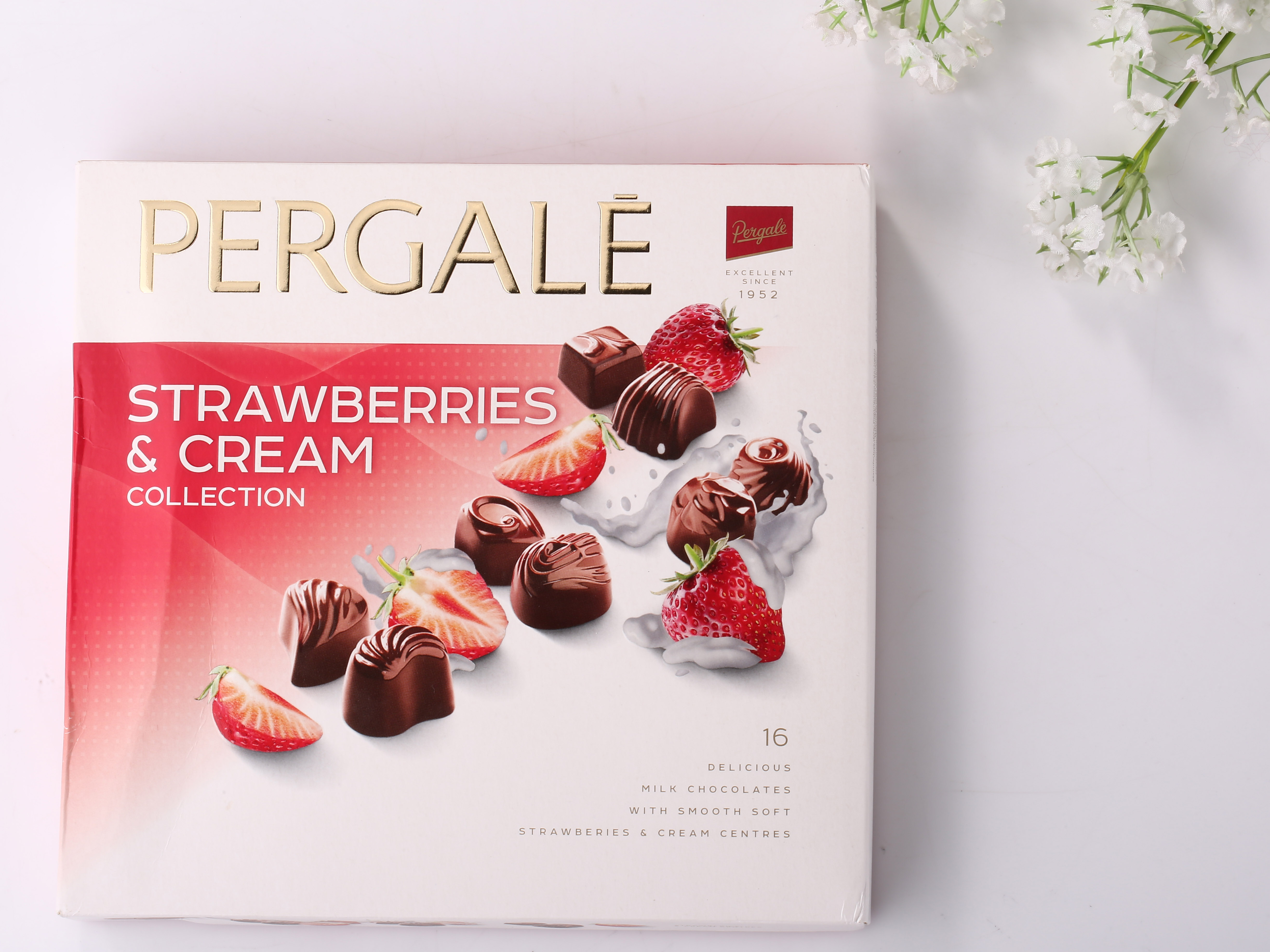 PERGALE strawberry cream sandwiched chocolates (gift boxes)