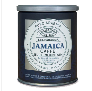 Jamaica Blue Mountain ground coffee 250gr in TIN Italy