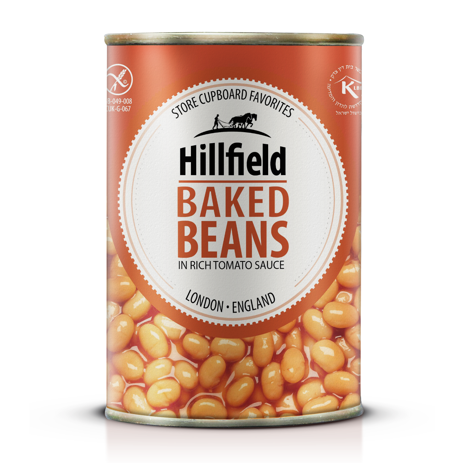 Hillfield Baked beans in tomato sauce, Italy, Legummes, Ready to eat, instant food, Coppola Foods