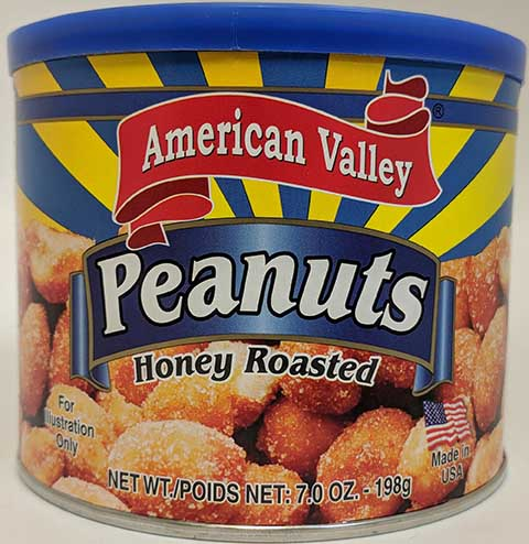 American valley Honey roasted peanuts