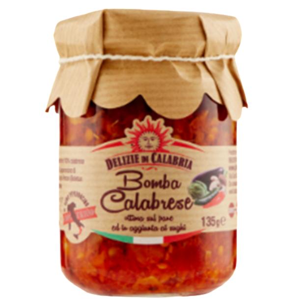 Bomba Calabrese / Calabrian Bomb  Italian Condiment Calabrian Hot Pepper Sauce mixed vegetable