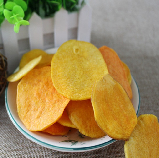 AFood vacuum fried sweet potato chips snack food