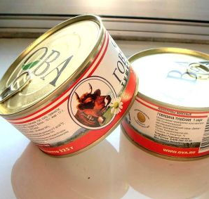 Buy canned beef imported from Russia