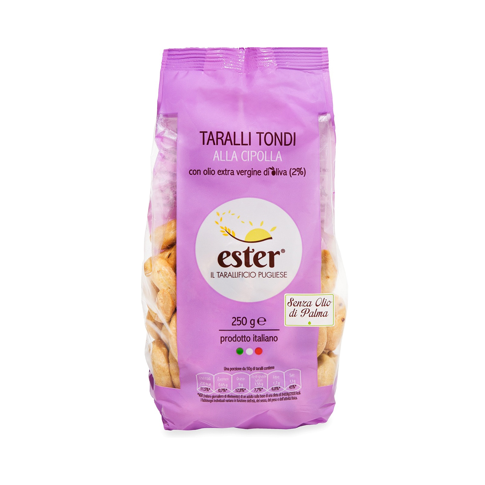 Ester Onion Taralli Tondi Baked ProductItaly wheat,salted snack,biscuit